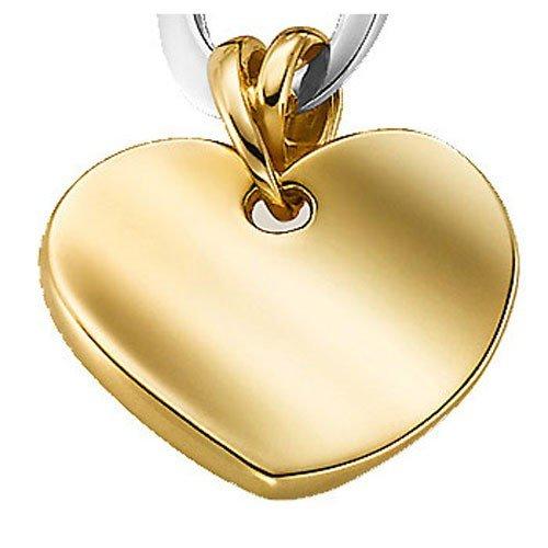 Pendentif cœur en or jaune 585or pendentif poli pour femme
