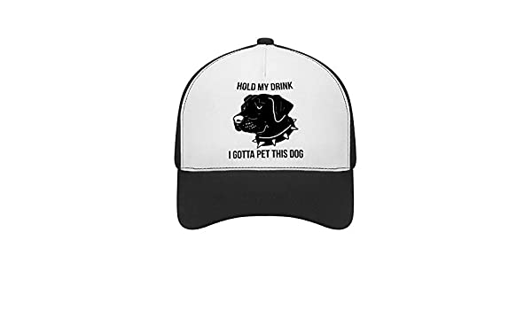 Classic Adjustable Plain Hats Dad Hats Black Hold My Drink I Gotta Pet This DogTop Level Baseball Caps Men Women