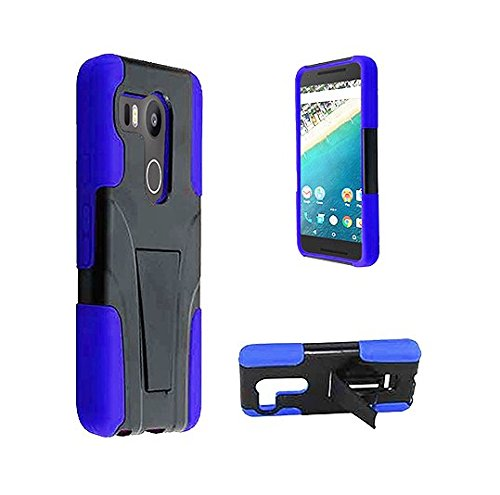 Lg Nexus 5X Phone Case Cover,Nexus 5x Case [ Storm Buy ] Premium Hard & Soft Sturdy Durable Shockproof Rugged Shell Hybrid Protective [ Anti Scratch ] Phone Case Cover with Built in Kickstand (Blue)