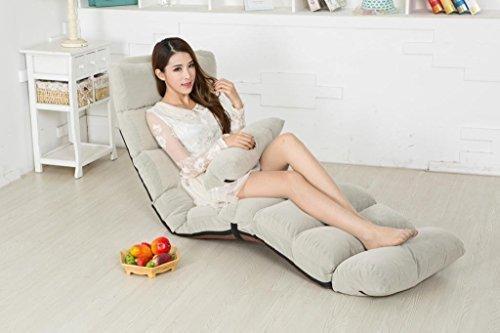 Living Room Set Folding Chair - Porpora Relaxing Folding Futon Sofa and Comfortable Lounge Sofa, Grey