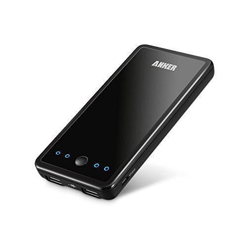Anker Astro E3 Ultra Compact 10000mAh Portable Charger (2nd Gerneration, Classic External Battery Power Bank) Slim with PowerIQ Technology (Black) (Anker Battery Charger compare prices)