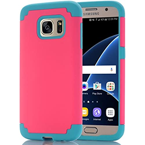 Galaxy S7 Edge Case, HOcase Cool Color Series, Dual Layer Hard Plastic and Silicone Bumper Impact Resistant Protective Sales