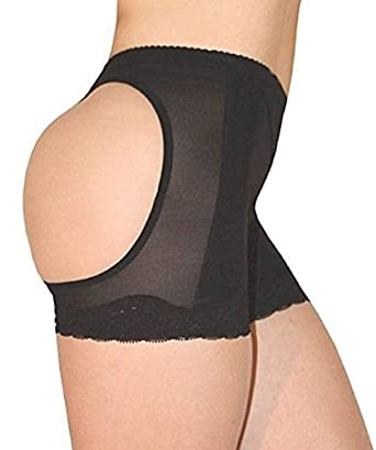 43321578afd BUTT LIFT LIFTER BUTTOCKS PANTY TUMMY CONTROL GIRDLE (LARGE BLACK) at  Amazon Women s Clothing store