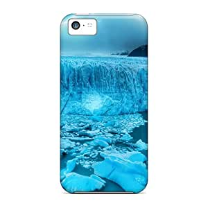 Awesome Case Cover/iphone 5c Defender Case Cover(gorgeous Azure Glacier)
