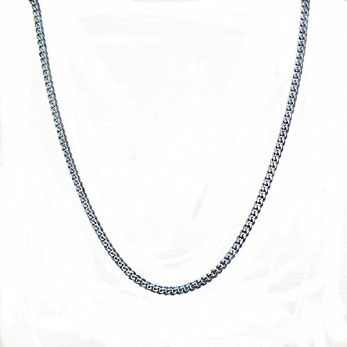 5mm Width;10-100m length;Women Men Curb Chain Silver Tone Stainless Steel Wholesale Necklace (100) by FANS JEWELRY