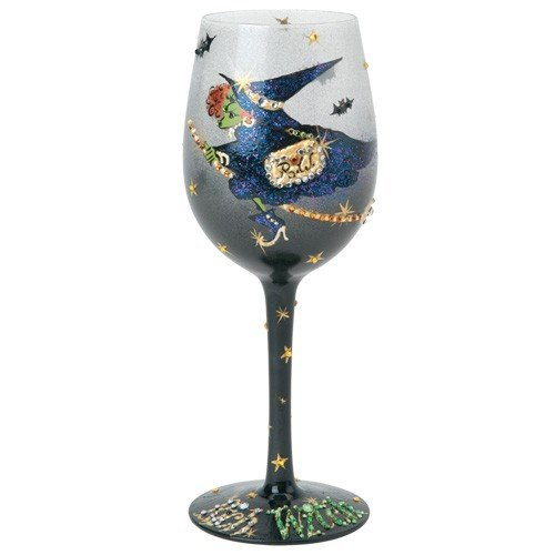 Santa Barbara Design Studio GLS11-5527B Lolita Love My Wine Hand Painted Glass, Rich Witch -