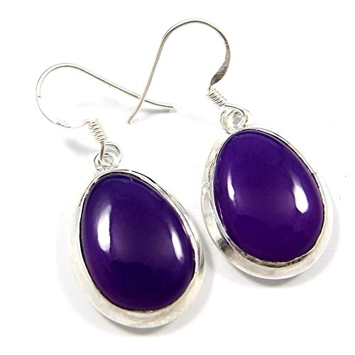 - Purple Chalcedony Gemstone Earring