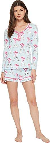 BedHead Women's Long Sleeve Sweetheart Two-Piece Shorts Set Puppy Love Medium by BedHead Pajamas (Image #3)