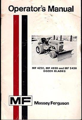1977 MASSEY-FERGUSON MF 4230,4830 DOZER BLADE OPERATORS MANUAL 1448 420 M2 (010) (M2 Blade)