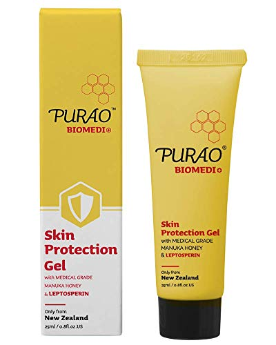 Purao Skin Protection Gel for lip, body, first aid, dry skin, rash, minor cut and more free of petrolatum (0.85oz)