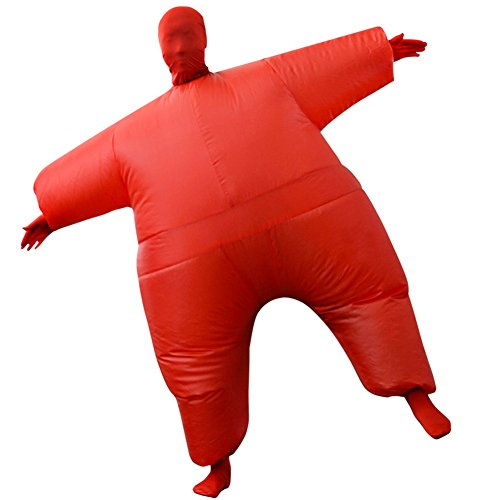 Inflatable Costume Full Bodycon chub Suit Cosplay Halloween Funny Fancy Dress Blow Up Party Toy for Adult ()