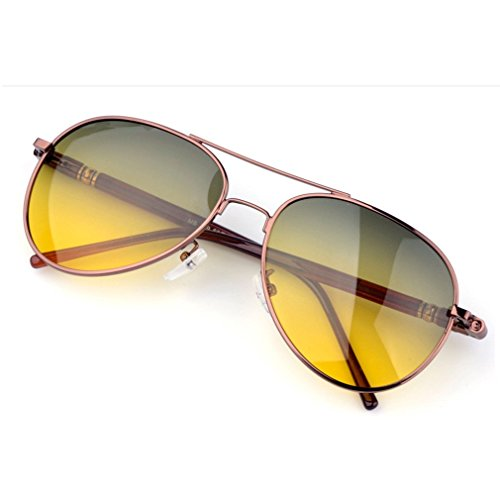 LOMOL Mens UV Pritection Anti-Dazzle Day and Night Amphibious Driving - Sunglass Raybon