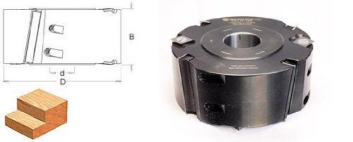Amana Tool 61485 Insert Carbide Shear Rabbeting 150mm D x 60mm CH x 1-1/4 Bore Aluminum Shaper Cutter