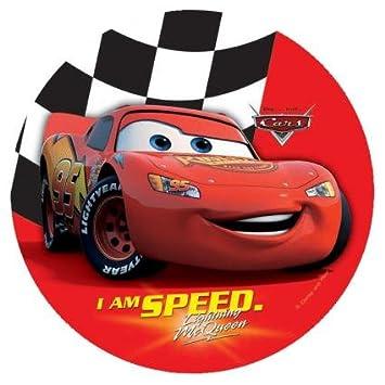 10 assiettes jetables  Disney Pixar Cars 2  Flash McQueen