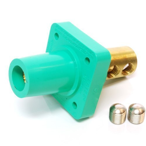 Marinco CL40FRB-EX CL Cam Type, Panel Mount, 400 Amp, 600 Volt, 2/0 - 4/0 AWG double set screw, Female - Green (E)