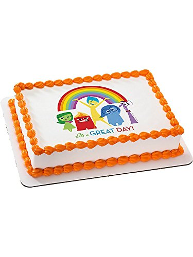 Inside Out Quarter Sheet Edible Cake Topper (Each) - Party Supplies by DecoPac ()