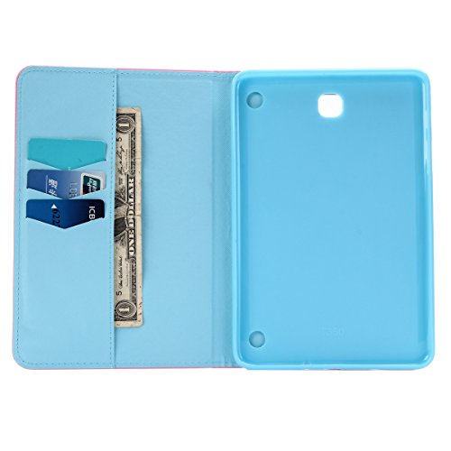 Carcasas y fundas Móviles, para Samsung Galaxy Tab A 8.0 pulgadas T350, Dandelion Design PU Leather + Soft TPU funda protectora de goma con ranura para tarjeta / soporte para Samsung Galaxy Tab A 8.0  Purple