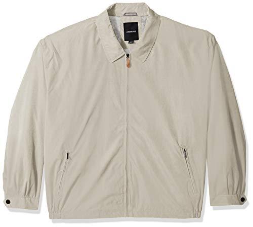 London Fog Men's Auburn Zip-Front Golf Jacket (Regular & Big-Tall Sizes), cement, 5X Big ()