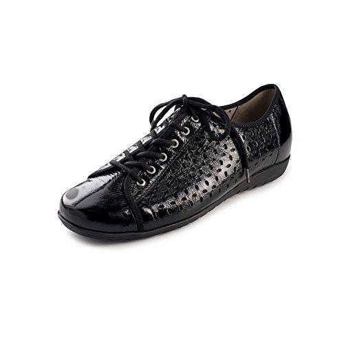 Waldlaufer Women's Hesima Walking Shoe (9.5 M US, Black)