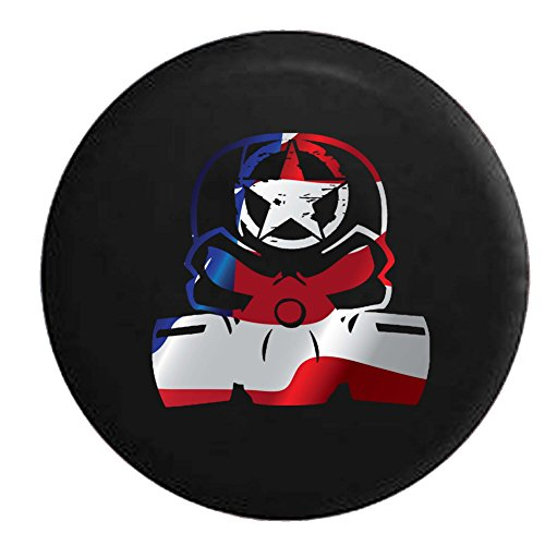 - Flag - Punisher Skull Gas Mask Oscar Mike Zombie Military Spare Tire Cover OEM Vinyl Black 32-33 in