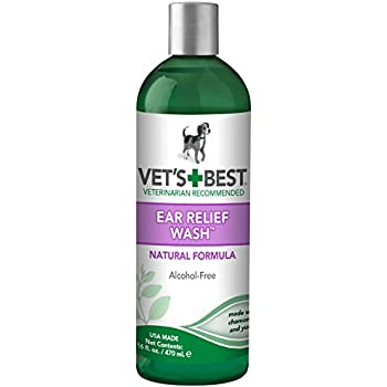 Amazon Com Vet S Best Ear Relief Wash Cleaner For Dogs
