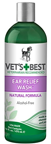Vet's Best Ear Relief Wash Cleaner for Dogs, 16 oz Refill