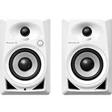 "Pioneer Pro DJ DM-40-W Active Desktop Monitors (2) with 4"" Woofer - White"