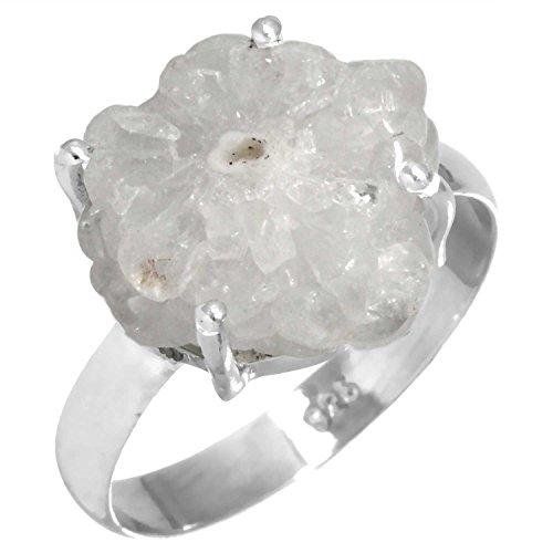 Natural Solar Quartz Eye Gemstone Ring Solid 925 Sterling Silver Stylish Jewelry Size 10