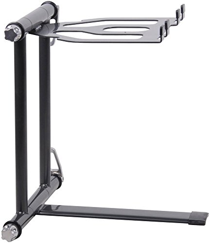 CRANE Stand Plus Universal DJ Stand for Laptops, Tablets and Controllers with Nylon Carry Bag, Graphite Grey -