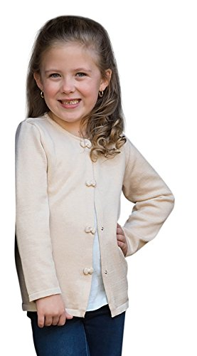 Price comparison product image Strasburg Children Sweater Cardigan for Girls Off White Cream Ivory Champagne Spring Easter Button up Holiday Gift