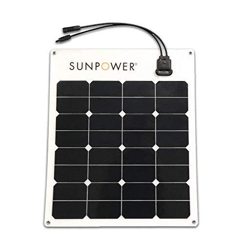 SunPower® 50 Watt Flexible Monocrystalline High Efficiency Solar Panel