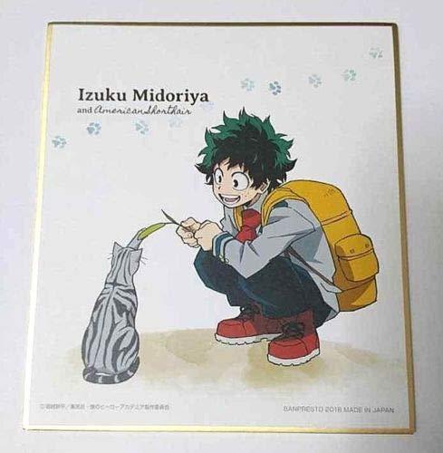My Hero Academia Mini Paper Autograph Izuku Midoriya Cat 13.5cm UA Anime