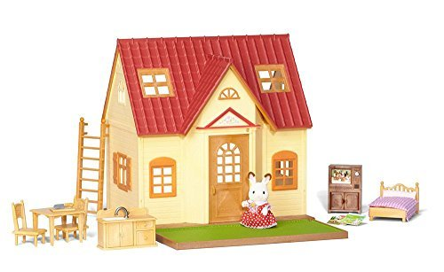 Calico Critters of Cloverleaf Corners Bundle – Hopscotch Rabbit Family Set with Cozy Cottage Starter Home Set – Build Skills with Imaginative - Bayshore Center Town
