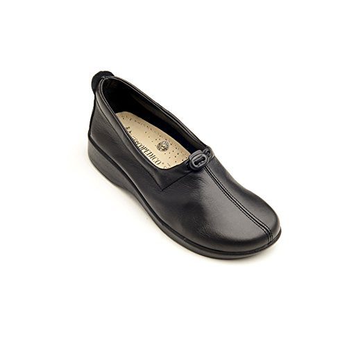 Arcopedico 7851 Queen II Womens Loafers Shoes, Black, Size - 36