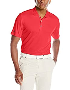 adidas Golf Men's Performance Polo Shirt, Ray Red F, Small
