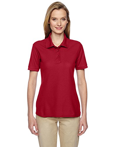(Jerzees Easy Care Ladies' Pique Sport Shirt (True Red))