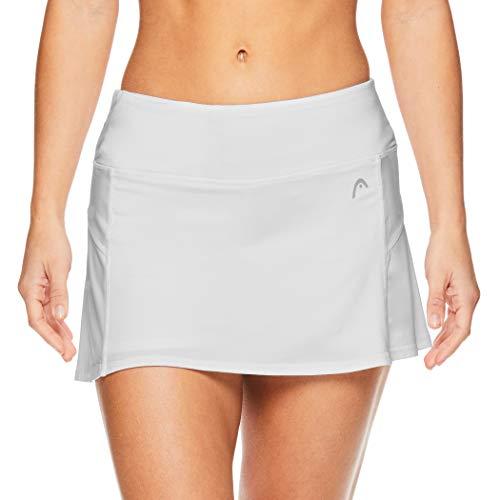 (HEAD Women's Athletic Tennis Skort - Performance Training & Running Skirt - Stark White Heather, Medium )