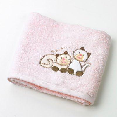Toalla de gatos de los niños (rosa): Amazon.es: Bebé