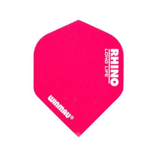 (Winmau Rhino Long Life Standard Extra Thick Dart Flights (3 Sets of 3 - 9 Flights) (Pink))