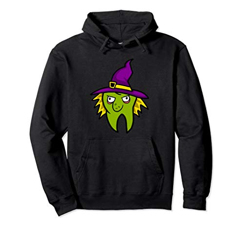Dentist Witch Dental Hygienist Halloween Costume Tooth Pullover -