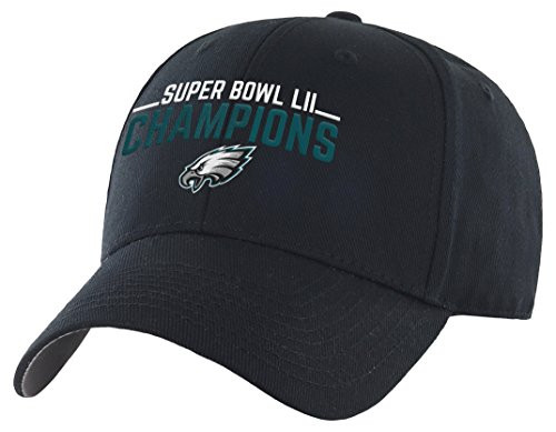 OTS NFL Philadelphia Eagles Super Bowl SB52 Champions All-Star Adjustable Hat, Black, One Size