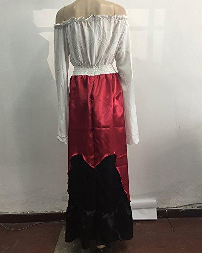 Damen Mittelalterliche Gothic Viktorianischen Königin Kostüm Langarm ...