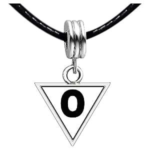 Chicforest Black Letter O Photo Triangle Charm Beads Bracelets European Bracelets Compatible