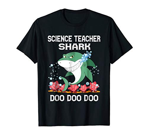 Science Teacher Shark T-Shirt Science Teacher Halloween Chri -