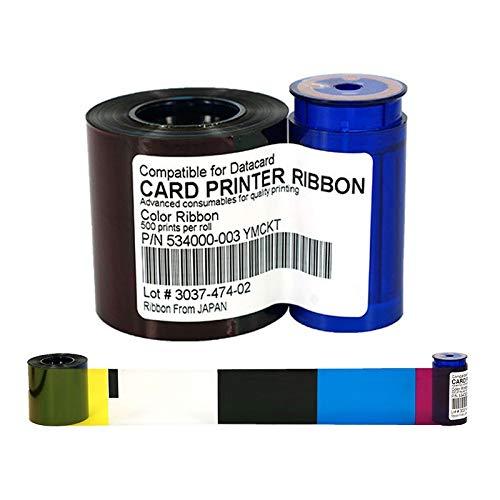 (Printer Parts 534000-003 YMCKO Ribbon 552854-504 Printer Color Ribbon 500rints/roll for Datacard SD260 SD360 SP35 SP55 SP75 Plus Ribbon)