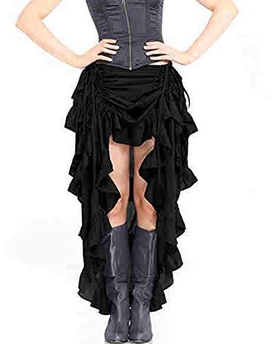 Asymmetrical Ruffled Skirt - 2
