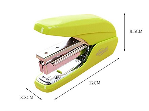 School Creative Labor-Saving Home Office Learning Stationery Stapler Home Office Book Sewer(Green) Office School