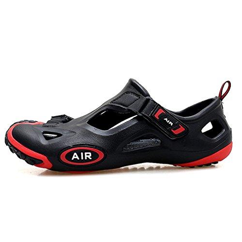 Enfants Respirante Homme Casual EU30 Non Sandales Slip Plat Semelle 45 Femme Dexuntong Beach Chaussures Outdoor Noir4 Pantoufles Plage Ete Mules zE4nw1dqwx