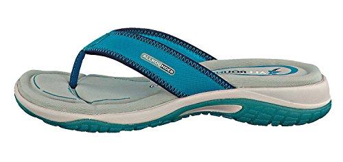 Allrounder Mujer Eliza Flats Zapatos Turquesa Mesh