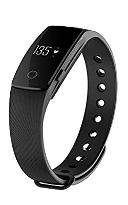 KESSDER Heart Rate Monitor Fitness Tracker ID107 Bluetooth Smart Wristband Sport Bracelet with Sleep Monitor Step and Calorie Counter Vibrating Alarm